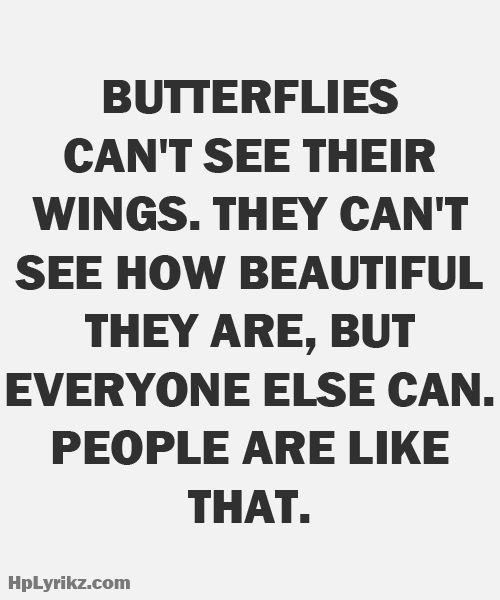 Butterflies are like people