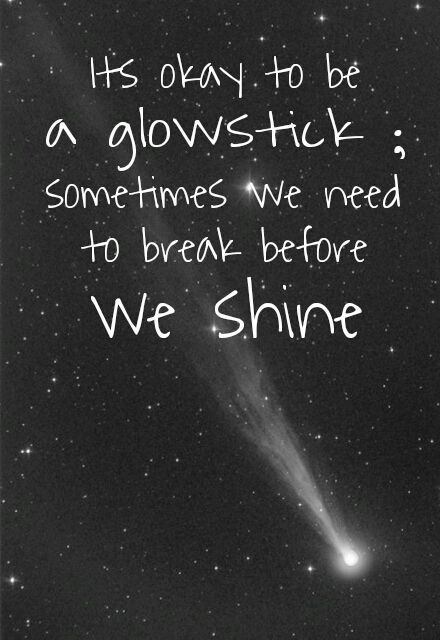 We're glow sticks