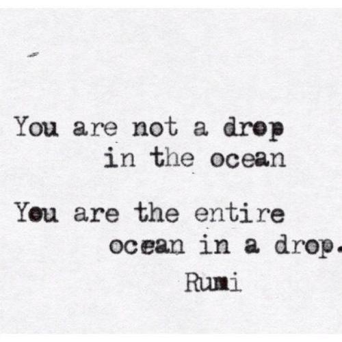 In a drop