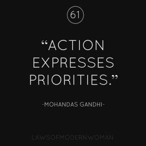 expresses priorities